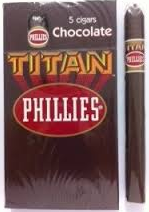 Charuto Phillies Titan Chocolate Box/5 Charutos - 160 MM.
