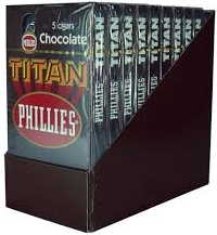Charuto Phillies Titan Chocolate Box c/ 50 –160 MM. total 50 charutos