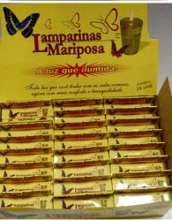 Lamparinas Mariposa BOX C/24 Caixinhas