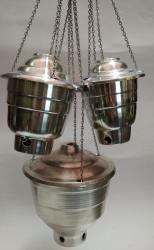 Turíbulos de Alumínio - (A x L) -14 x 15 CM -MÉDIO