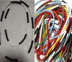 Guia de porcelana Preta x Branca c/154 cts + Firma