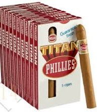 Charuto Phillies Titan Natural Box c/ 50 – total 50 charutos - 160 MM.